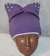 Красивая и стильная шапочка на девочку (весна-осень) 2-7 лет