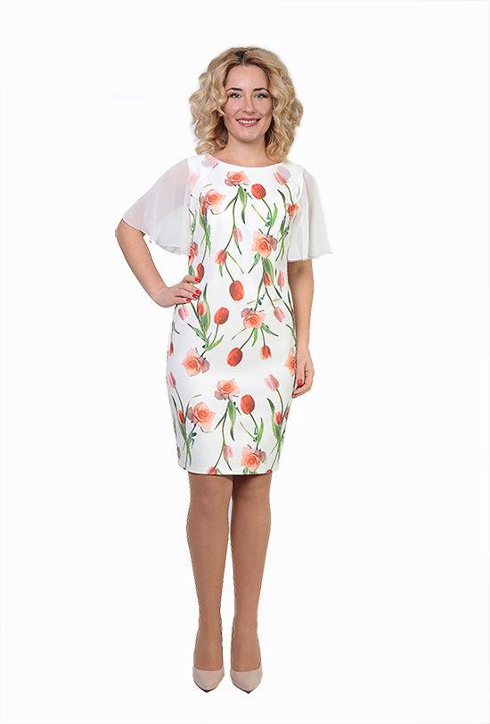 Нарядное женское платье Тюльпан р 48.50.52.54
