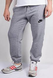 Мужские спортивные штаны серый меланж