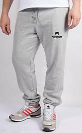 Мужские спортивные штаны светло - серый меланж