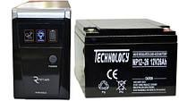 Комплект резервного питания ИБП RITAR RTSW-600 + АКБ TECHNOLOGY NP12-26Ah для 2-3ч работы газового котла