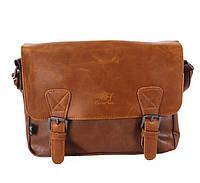 Чоловіча повсякденна сумка. Світло-коричнева
