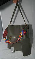 Стильная женская сумка-тоут Voila (Wallaby) серого цвета