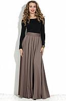 Длинная пышная юбка в пол со складками