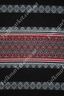 Ткань для скатерти Прима с красным орнаментом