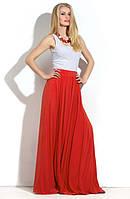 Длинная юбка присборенная по линии талии