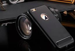 """Чехол-бампер iPhone 7 Metal """"Motomo"""" черный"""