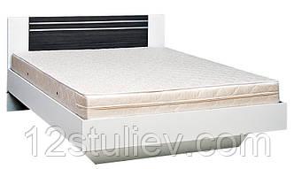 Кровать 2-сп (1.8)  Круиз Белый Серый