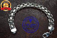 Мужской браслет серебро Двойное Якорное плетение