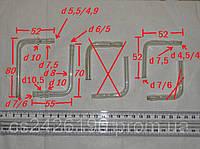 Трубки стеклянные изогнутые Г-образные малые (цена за 1 из них)