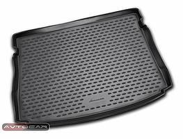 Коврик в багажник VOLKSWAGEN GOLF VII с 2013- , цвет:черный , NovLine