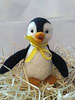 Игрушка валяная из шерсти Пингвин