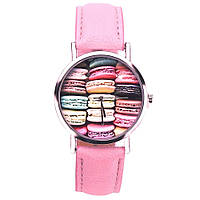 Оригинальные модные женские часы, розовые
