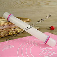 Скалка для мастики с ограничителями (съемными) 22 х 2,5 см