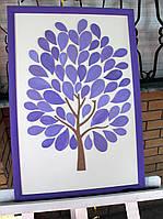 Дерево пожеланий (Размер рамки 40х50см, 70 листочков)