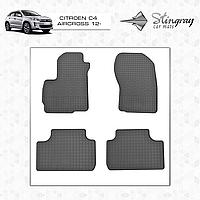 Коврики резиновые в салон Citroen C4 Aircross c 2012- (4шт) Stingray