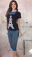 """Пижама женская футболка с бриджами, """"Fancy secret"""", Dalmina, Турция"""