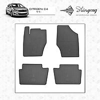 Коврики резиновые в салон Citroen C4 c 2011- (4шт) Stingray