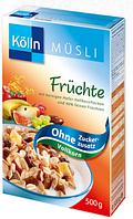 Kölln Müsli Früchte ohne Zuckerzusatz  -  Мюсли с фруктами без сахара, 500 г