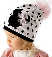 Демисезонная модная шапочка для девочки от Marika Польша