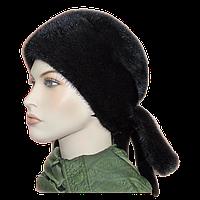 Норковые шапки женские коричневая