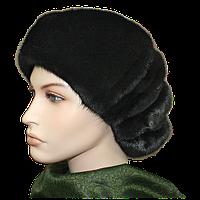 Берет женский черный норковый