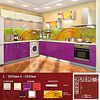 Кутова кухня L-3600 мм d-2400 мм