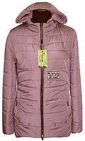 Женская демисезонная куртка 42-56р пудра