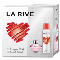 Женский подарочный набор (Туалетная вода/дезодорант) LA RIVE LOVE CITY 061755