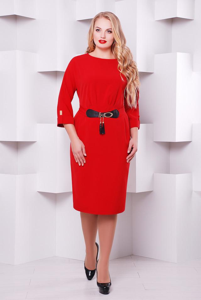 Нарядное платье  Тэйси красный 52,54,56,58р