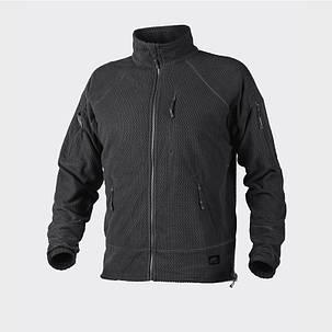Куртка ALPHA TACTICAL - Grid Fleece - черная , фото 2