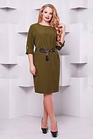 Нарядное платье Тэйси оливка 52,54,56,58р, фото 1