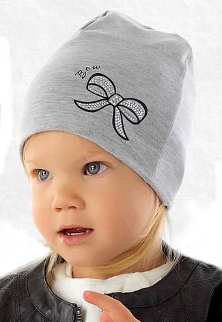 Демисезонная модная шапочка для девочки от Marika Польша, фото 2