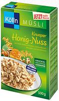 Kölln Müsli Knusper Honig-Nuss -  Мюсли хрустящие с мёдом и лесным орехом, 500г