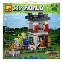 Конструктор Lele серия My World 33003 Наблюдательная вышка крепости (аналог Lego Майнкрафт, Minecraft)