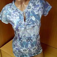 Женская футболка приталенная, фиолетовая