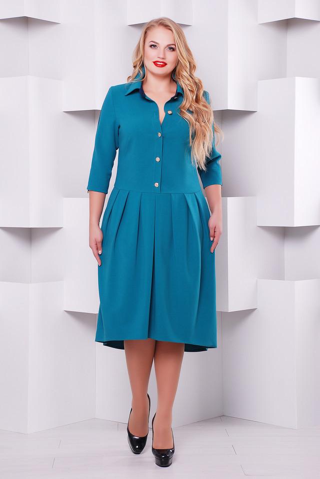 Нарядное платье Джэнни бирюза 50,52,54,56р