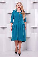 Нарядное платье Джэнни бирюза 50,52,54,56р, фото 1