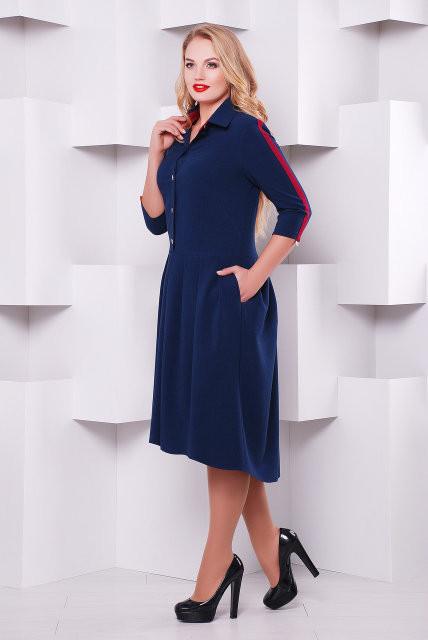 Нарядное платье Джэнни синий 50,52,54,56р