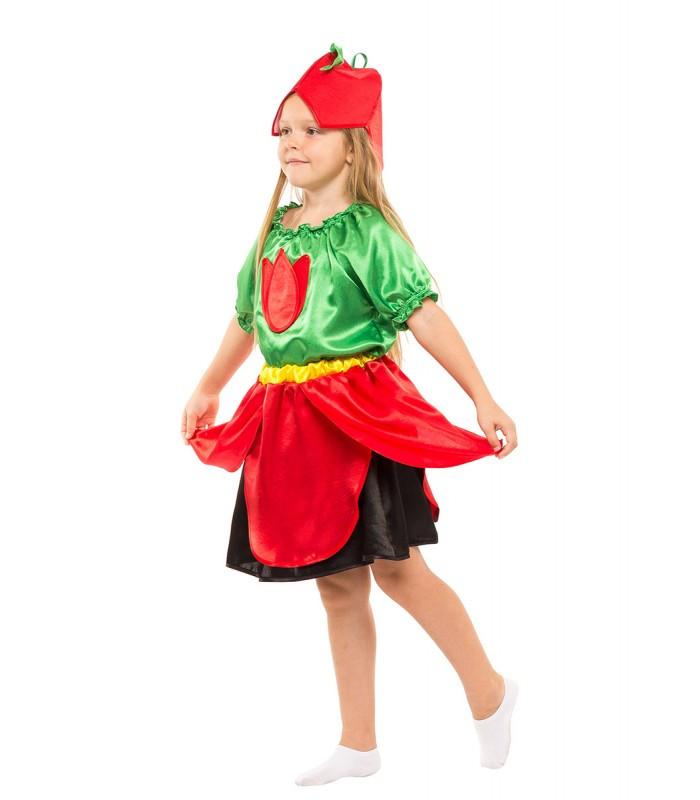 Карнавальный костюм Тюльпан девочка на праздник Весны (4-8 лет)