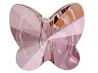 Намистини з гірського кришталю Swarovski метелики 5754 Crystal Antique Pink