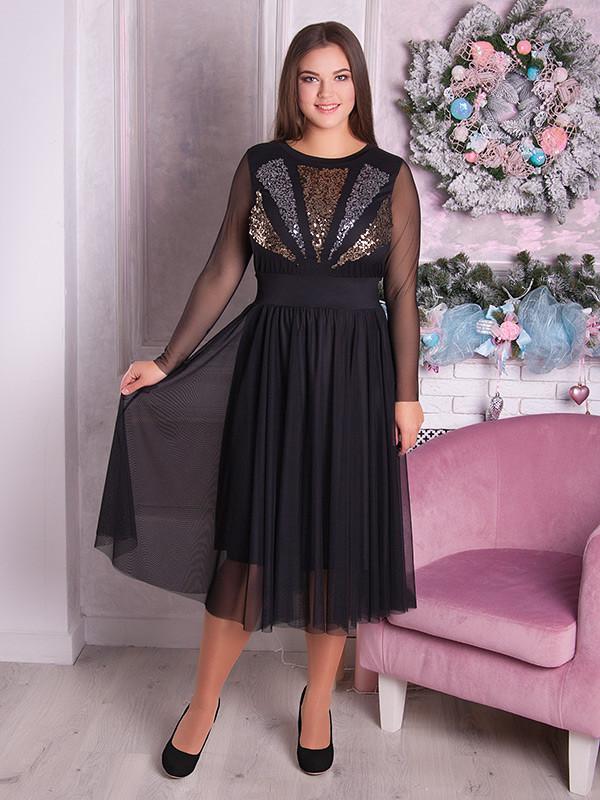 ebc4e5b7e81 Вечернее платье больших размеров с пайетками 66 - V Mode