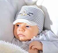 Шапочка на завязках для новорожденного