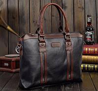 Мужская сумка. Размер 37-28.5-6.5 см.Черная.