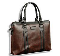 Мужская сумка. Размер 37-28.5-6.5 см.Коричневая.