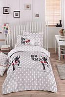 Постельное белье для подростков Eponj Home - Boston Gri ранфорс 160*220