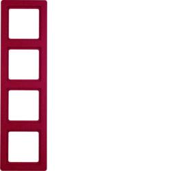 Рамкa 4-местная красная бархат Berker Q1