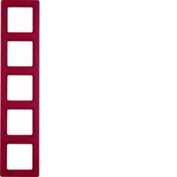 Рамкa 5-местная красная бархат Berker Q1