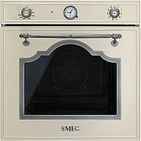 Многофункциональный духовой шкаф Smeg SF750PS бежевый + серебро старинное