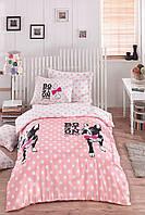 Постельное белье для подростков Eponj Home - Boston Pembe ранфорс 160*220